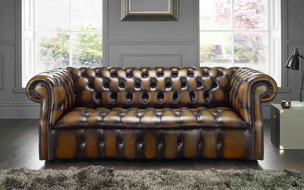 A Chesterfield Sofa For A Small Space British Chesterfield Sofas